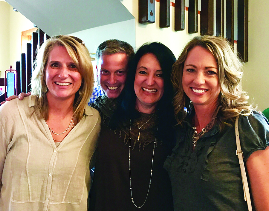 Bridget (Brown) Ekstrom, Jason Heiken, Hayley Lenington Leray, Beverly (Jolley) Endicott