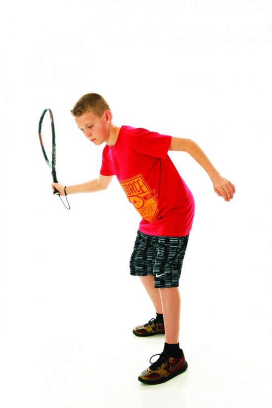 """Gatlin demonstrates the proper form for a solid basic shot, one of the many """"little things"""" that he practices daily."""