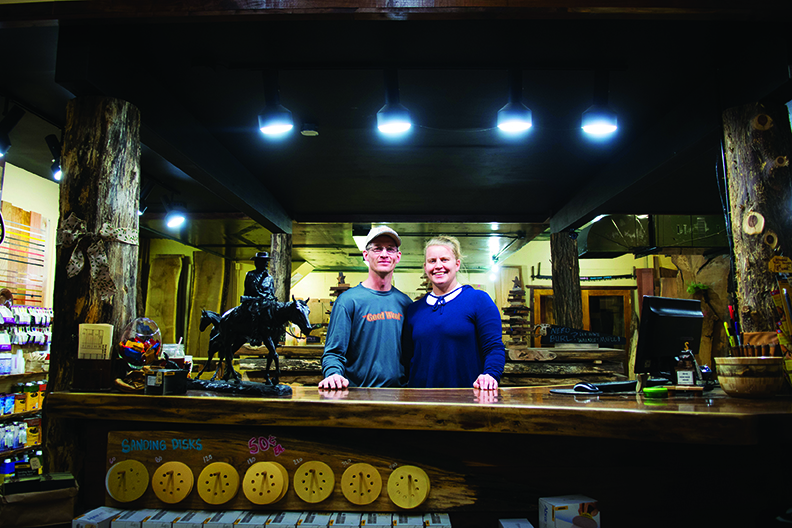 Quarter-sawn oak? A live-edge slab? It doesn't matter if your project is a houseful or a handful, Chris and Susan Crocker would like to help.